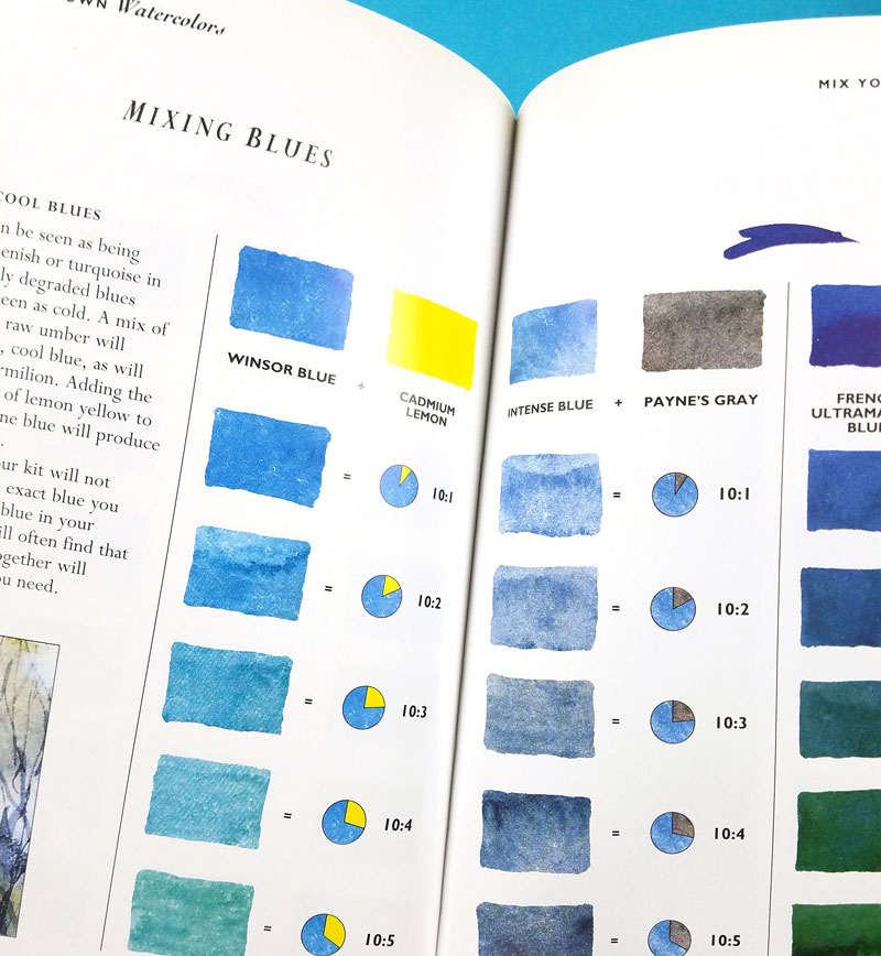 MIx Your Own Watercolors - the best watercolor books for learning color mixing with watercolors - an inside peek