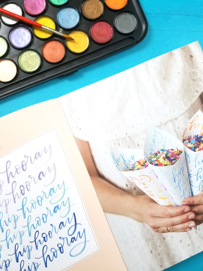 By Hand - the best watercolor books for learning the art of brush lettering - an inside peek