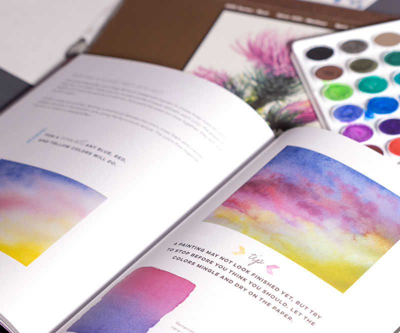 Beginning Watercolor by Maury Aaseng - an inside peek at the best watercolor books for basic technique