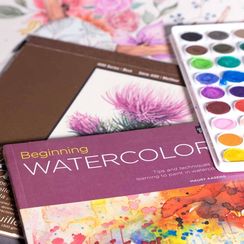 Beginning Watercolor by Maury Aaseng - the best watercolor books for learning basic techniques
