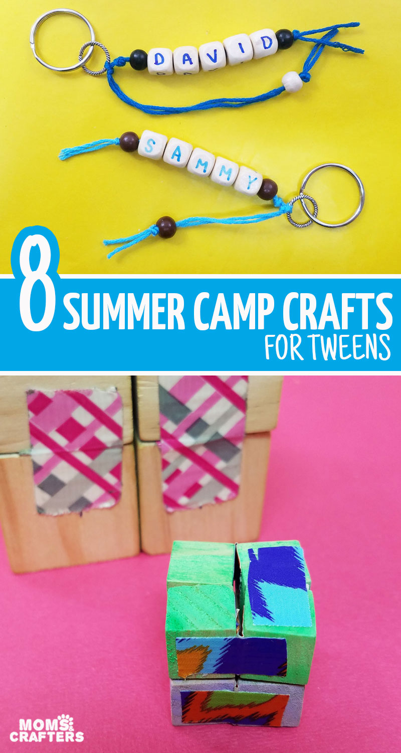 Click for a list of your favorite summer camp crafts for tweens -both boys and girls!!