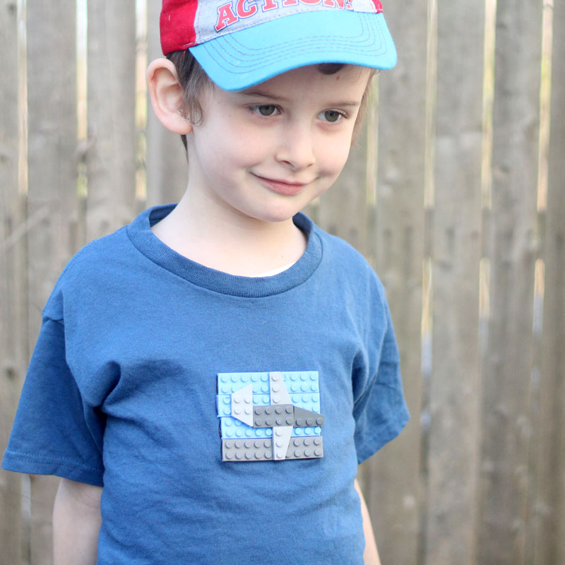 Craft an adorable easy DIY LEGOs t-shirt for your LEGO fan
