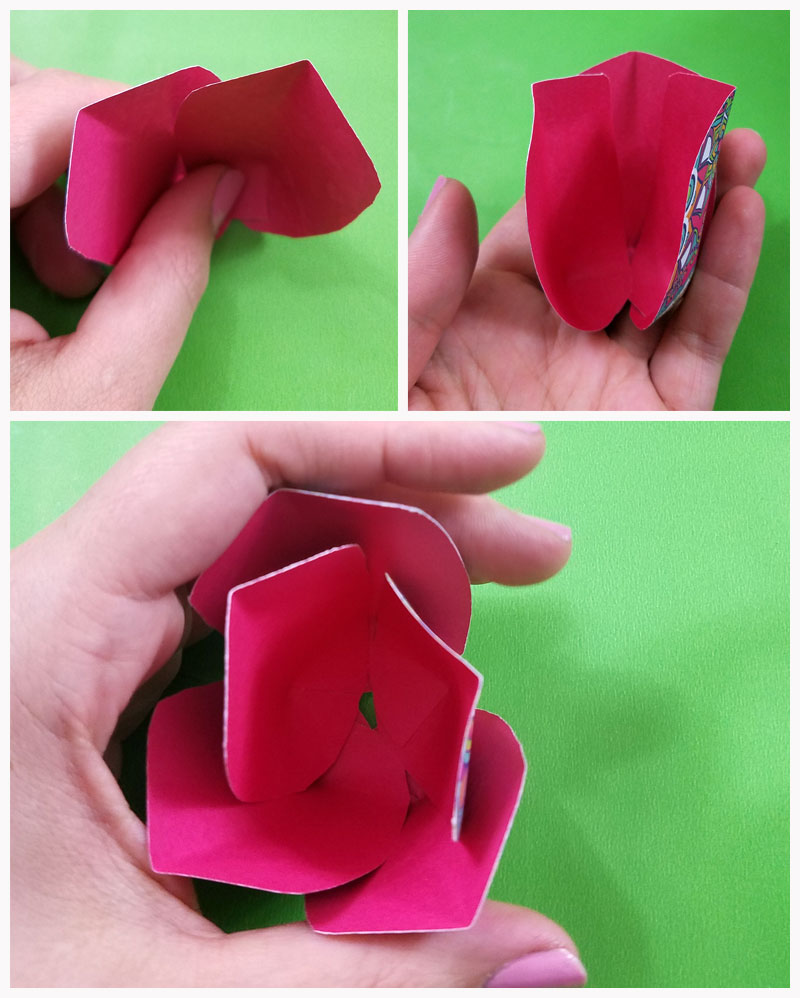 12. Assemble your paper tulips