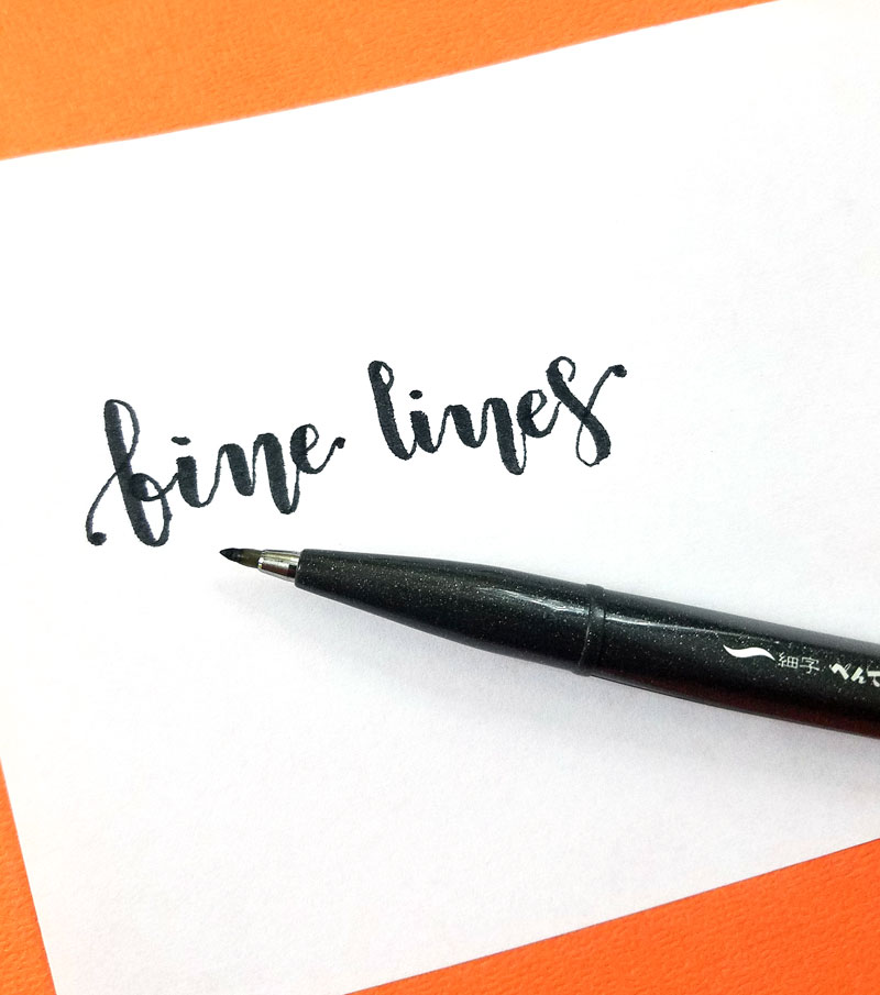 Pentel Fude Sign - lettering brush pen for beginners
