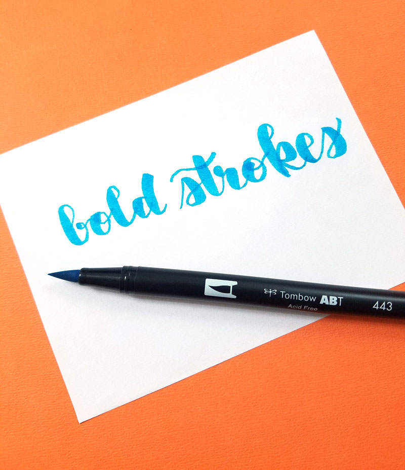 The best brush pens for lettering - tombow dual brush markers for bold strokes and touch ups