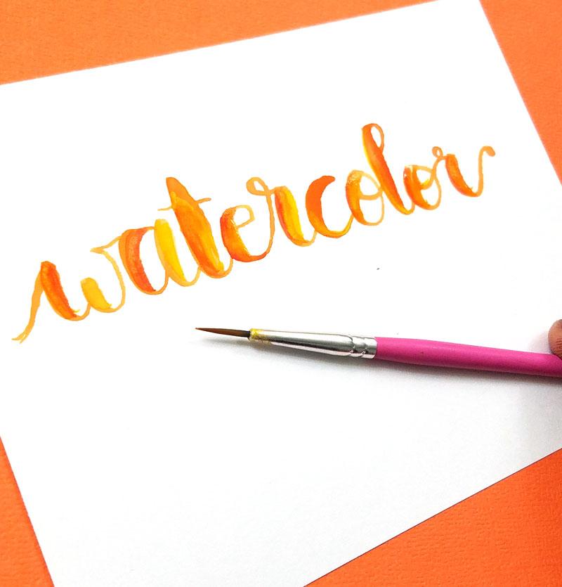 Best paint brush for lettering