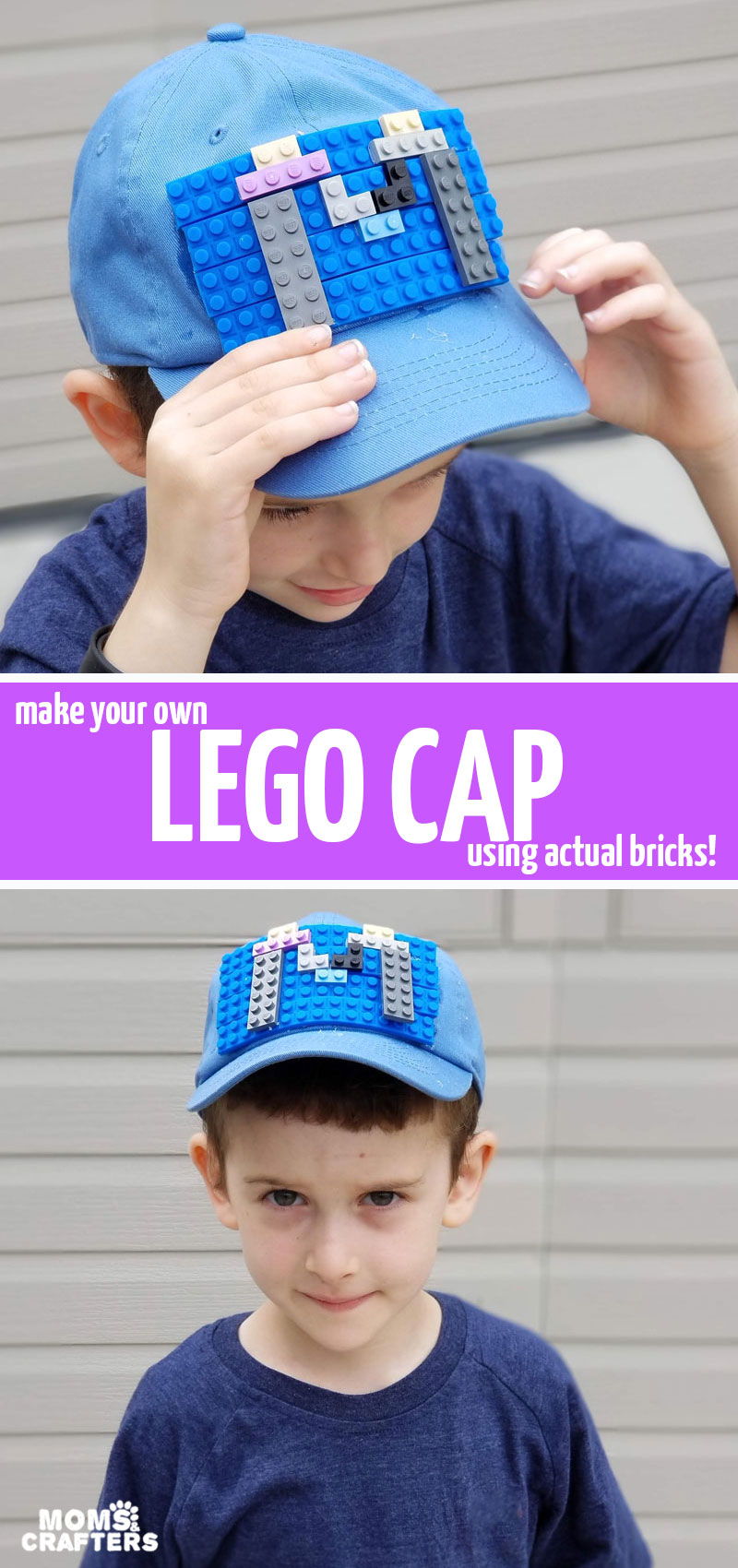 Click to learn how to make the coolest LEGO cap ever! This fun DIY embellished baseball cap is a wonderful summer craft for teens and tweens - boys or girls! It has actual LEGO bricks on it, making it the coolest DIY accessory ever! #lego #diyfashion #crafts #teencraft