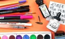 Hand lettering calligraphy brush pen