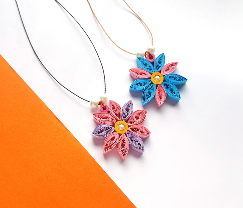 Paper quilling flower pendant paper quilled craft for beginners what you need to make a paper quilling flower pendant mightylinksfo