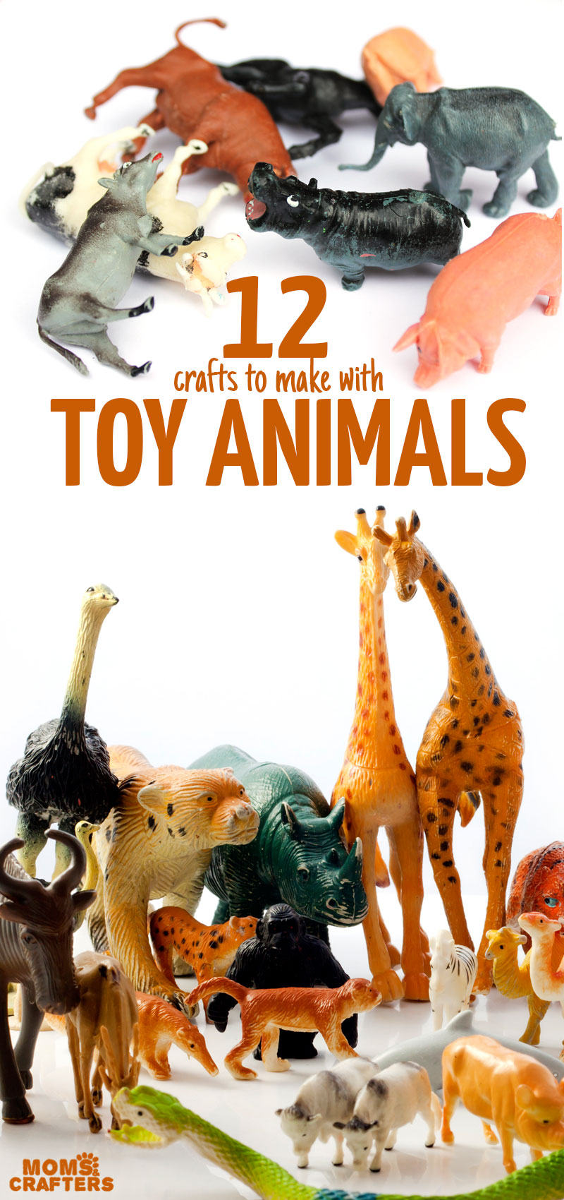 Click for 12 cool diy projects and things to make with toy animals! #diy #upcycling #crafts