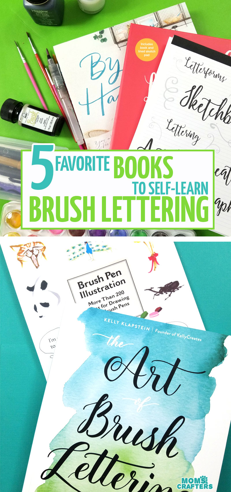 Click if you want to learn how to do brush lettering and calligraphy! I share the best brush lettering books for beginners, including practice pads and sheets #brushlettering #calligraphy #diy