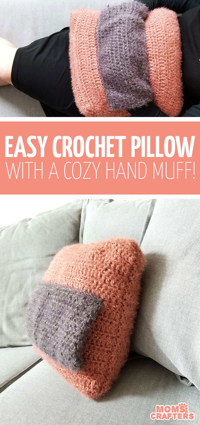 Click to learn how to make an easy crochet throw pillow to add some hygge to your home decor! #hygge #homedecor #crochet