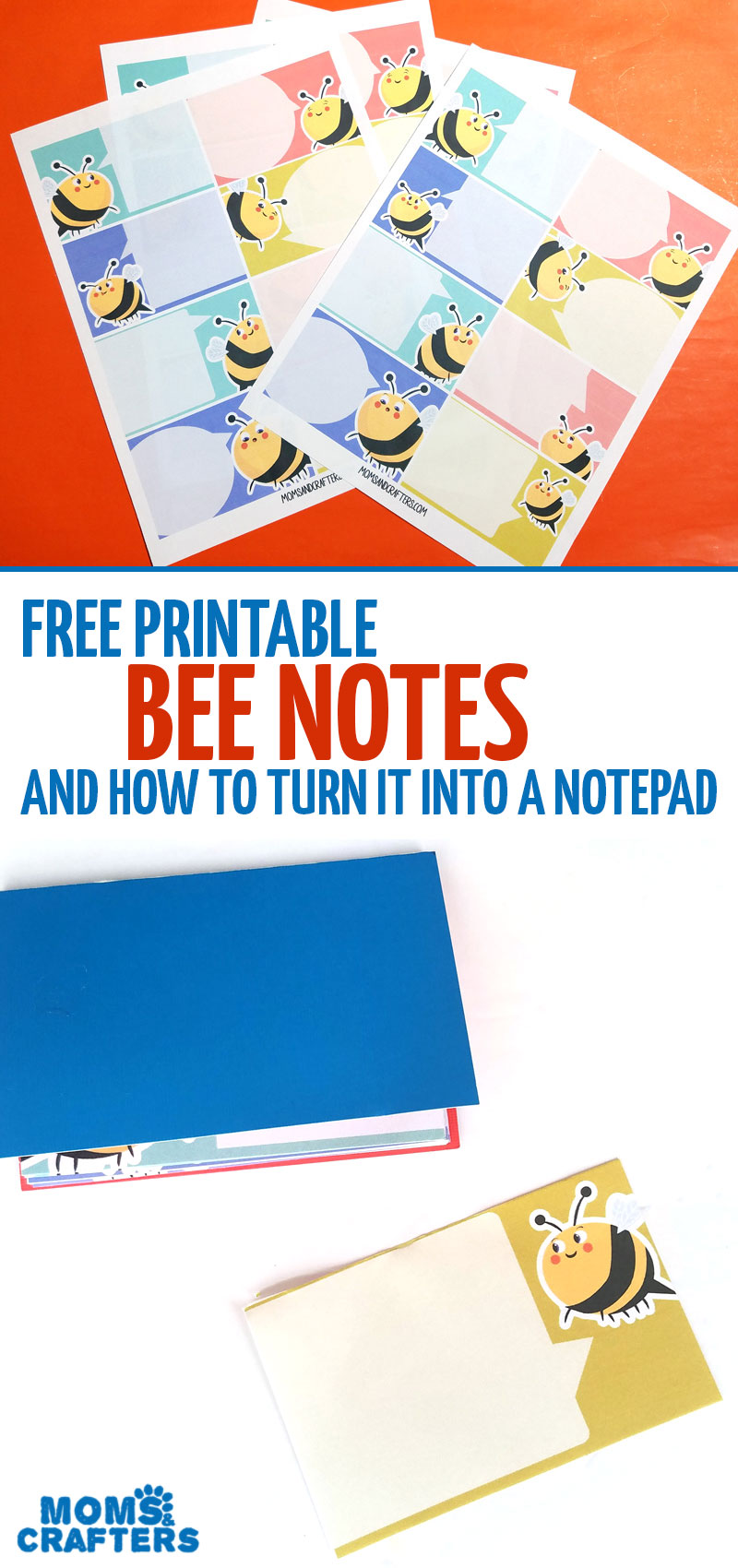 Click to download your free printable lunch box notes with adorable friendly bees on them! Learn how to turn them into a DIY notepad so you have them conveniently at your fingertips.