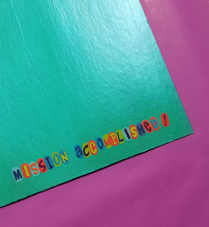 "Add alphabet stickers to spell ""mission accomplished"" on your DIY reward chart for kids"