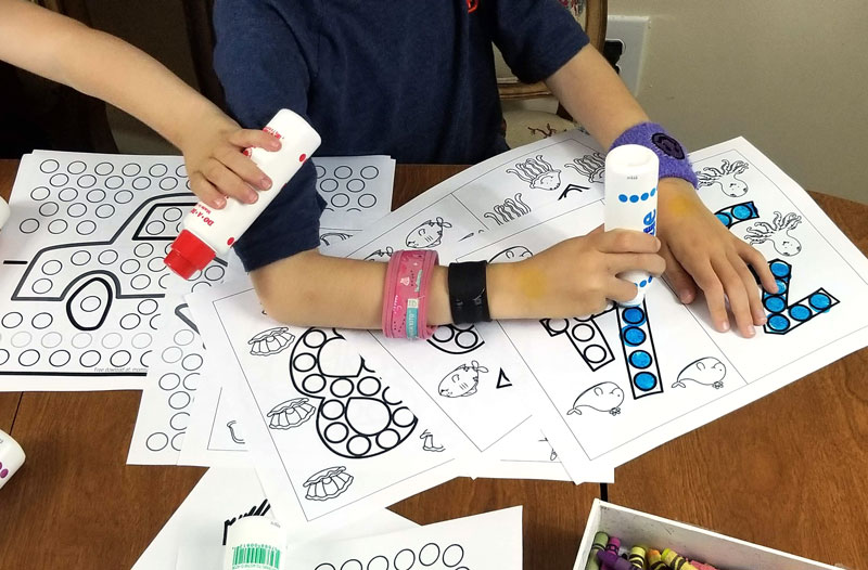 Do a dot number printables for preschoolers