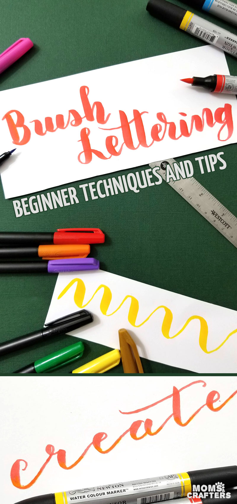 Basic tips and tricks to help you get started with learning brush lettering on your own! These brush calligraphy videos and techniques will help you make beautiful gift tags and cards, scrapbook pages, and bullet journal spreads. #bujo #handlettering #brushlettering