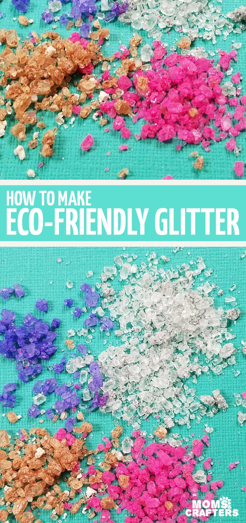 Click to learn how to make your own biodegradable glitter for your paper crafts!