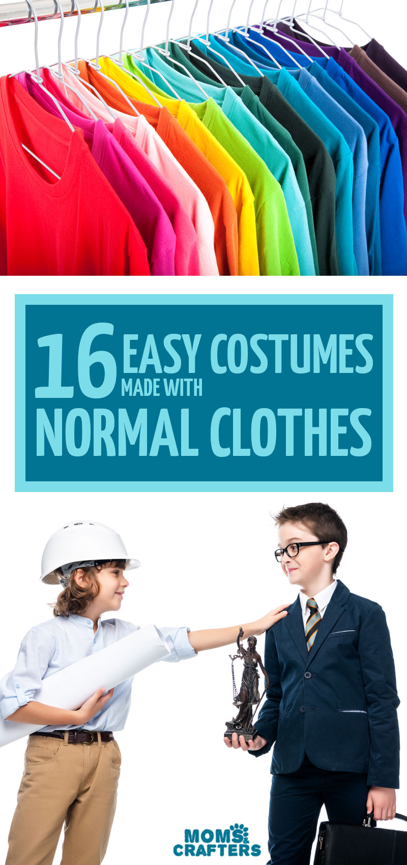 Click how to learn how to make some adorable easy costumes with normal clothes! These DIY costumes for toddlers, babies, preschoolers and kids use real clothing and are so much fun!