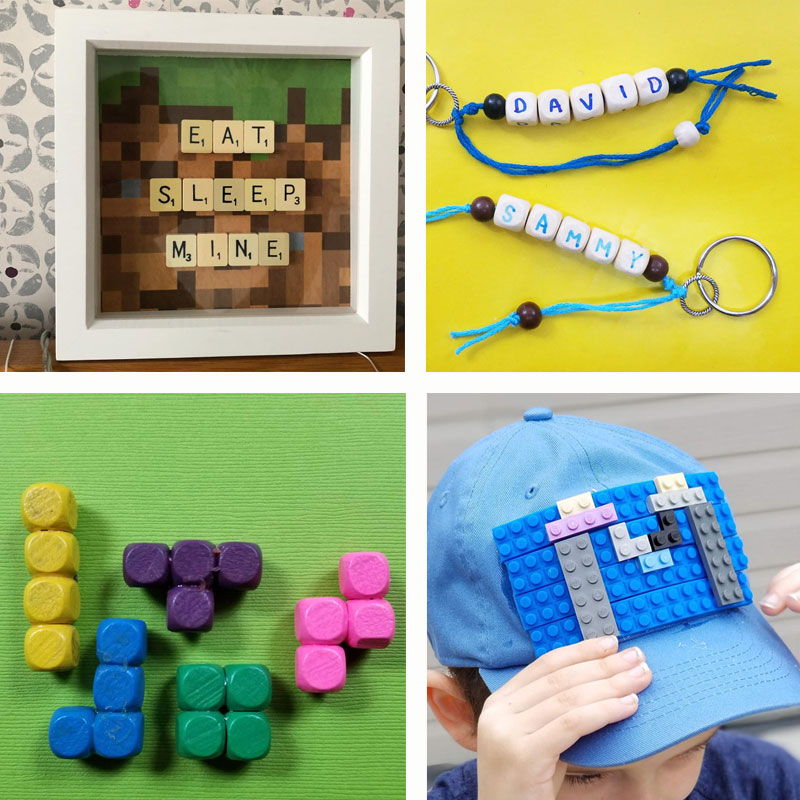 Click for 14+ amazingly cool crafts for teen boys - including LEGO and minecraft themes, superhero crafts, and more cool ideas for get-togethers and camps!