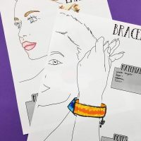 Jewelry Designer Templates - Color In Fashion Drawing Models to Make DIY Handmade Jewelry