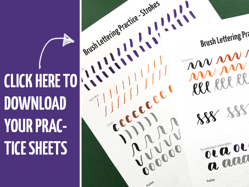 picture regarding Lettering Printable identify Cost-free Printable Brush Lettering Educate Sheets - Strokes