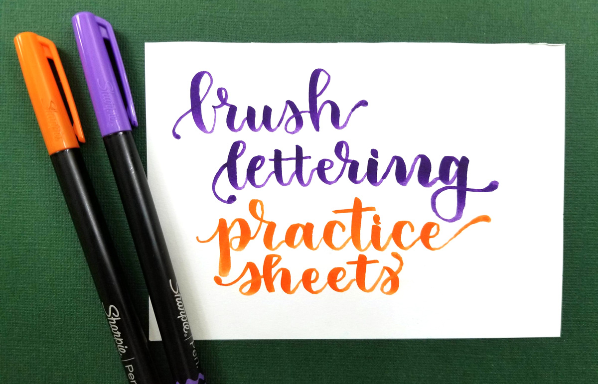 picture about Printable Lettering Free titled Cost-free Printable Brush Lettering Teach Sheets - Strokes