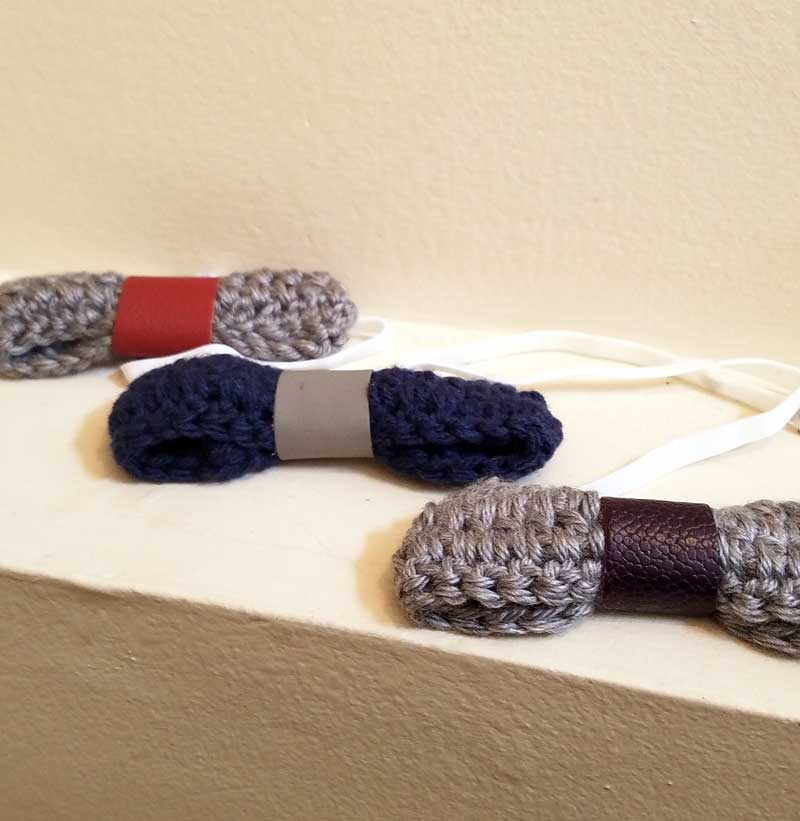 How to make crochet bow ties and headbands