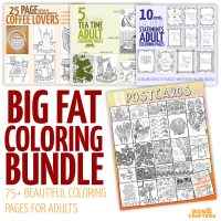 Over 75 Printable Coloring Pages for adults - HUGE DISCOUNTED Coloring Bundle- PDF instant digital d