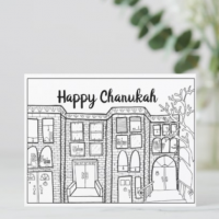 Color-in Chanukah Postcards