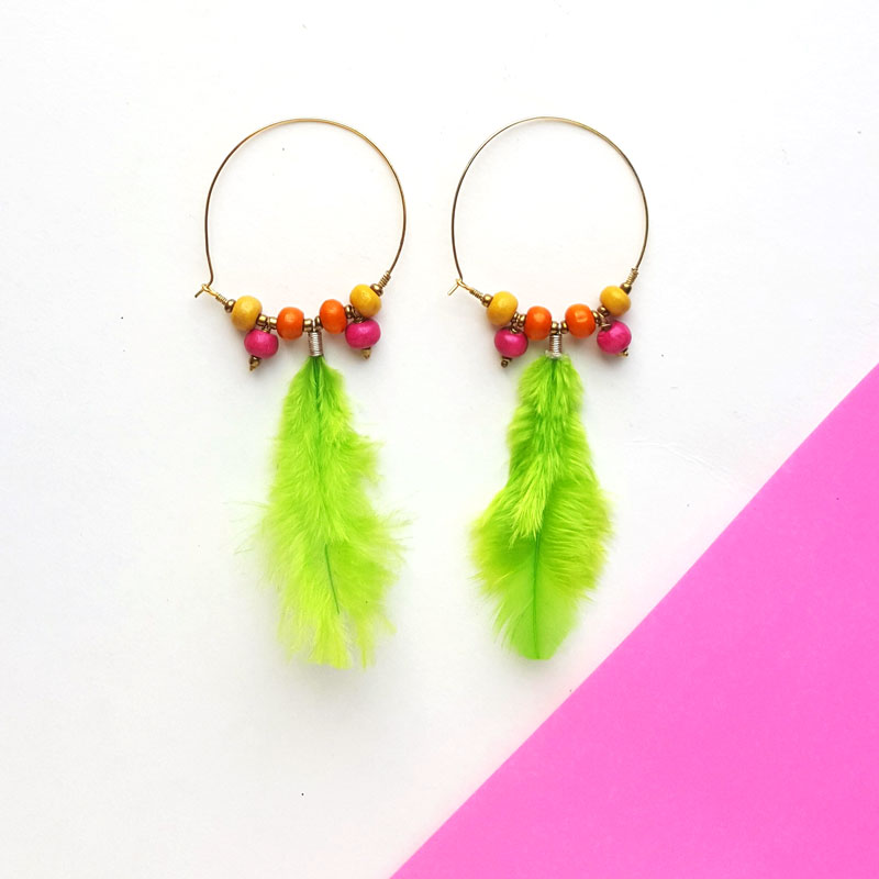Feather Earrings DIY
