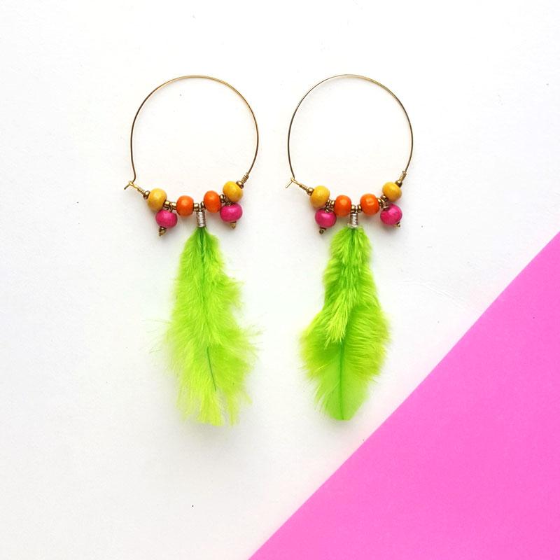 Feather Earrings DIY