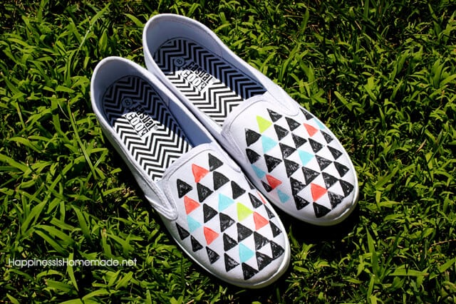 Geometric Stamped Shoes