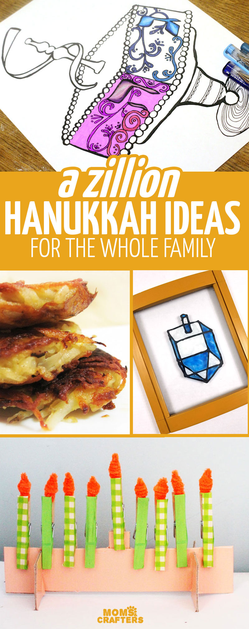 Cick for a huge list of hanukkah crafts, activities, recipes, printables, coloring pages, and more ideas for you and your whole family! these Chanukah crafts for kids and Hannukah decorations will help you celebreate a holiday to remember