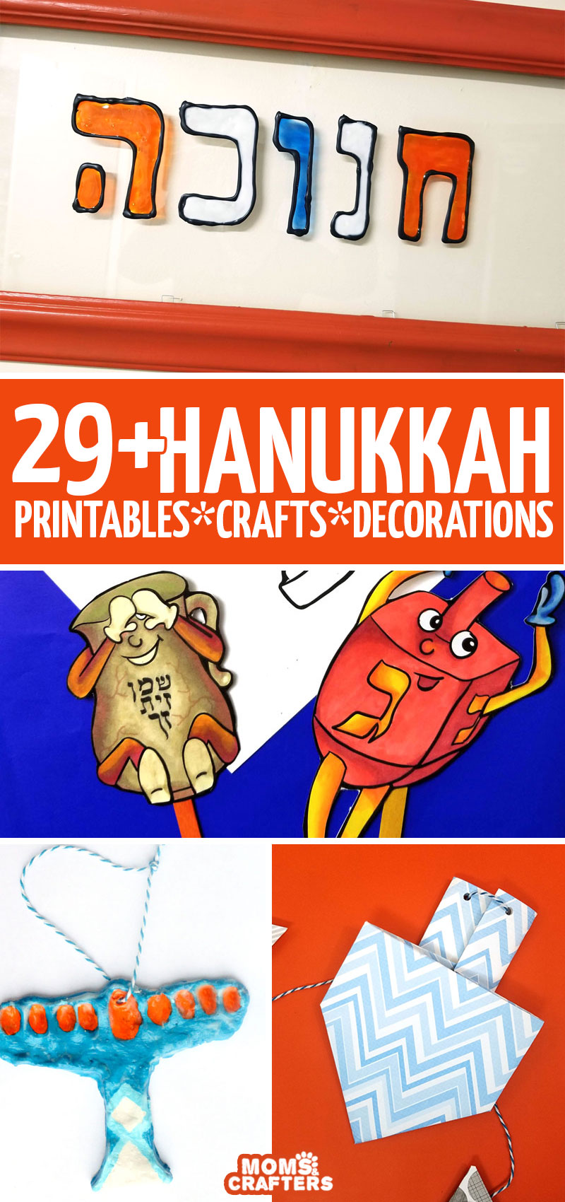 Over 30 Hanukkah crafts and ideas! This huge list includes free printable hanukkah coloring pages for kids and adults, Chanukah crafts for preschool, kids, teens ,and grown-ups, Hanukkah decorations, and more!