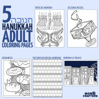 5 Hanukkah Coloring Pages for Adults