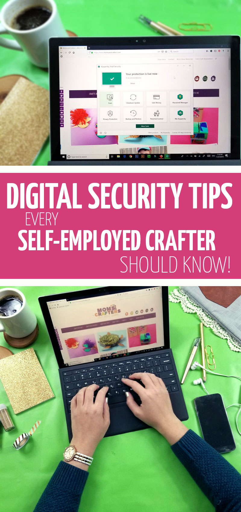 Click for top tips on how to stop hackers from harming your craft business! These creative business tips for online sellers are perfect for creatives.