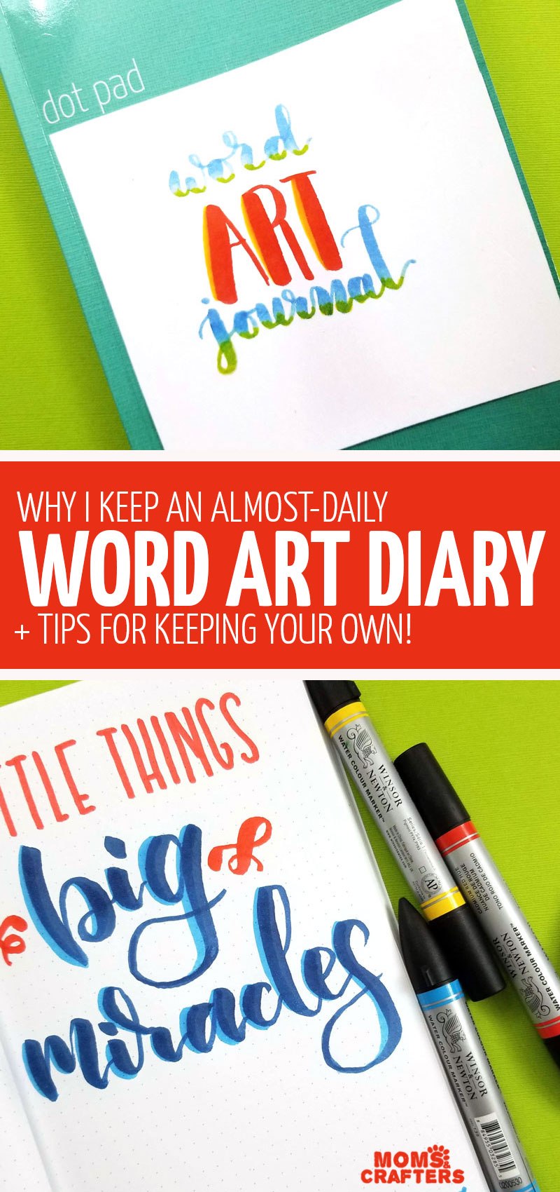 Keep a daily word art diary, a creative lettering journal where you practice calligraphy, hand lettering, or just relax and unwind! This unique form of art therapy is simple and doesn't take time.