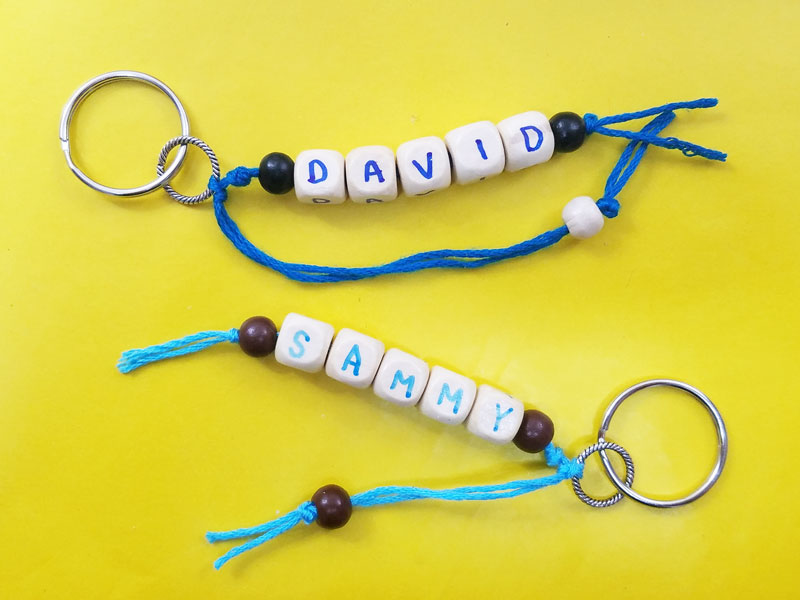 Name Keychains - a fun craft idea for kids! – Moms and Crafters 5d25b61d3499