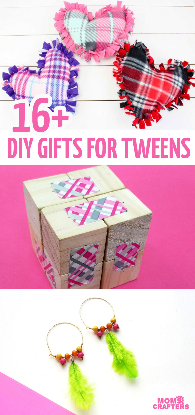 Over 16 creative gift ideas to make for tweens and teens! These DIY gifts for tweens are fun and functional, and include jewelry making, toys, LEGO, ideas for girls and boys, and more!
