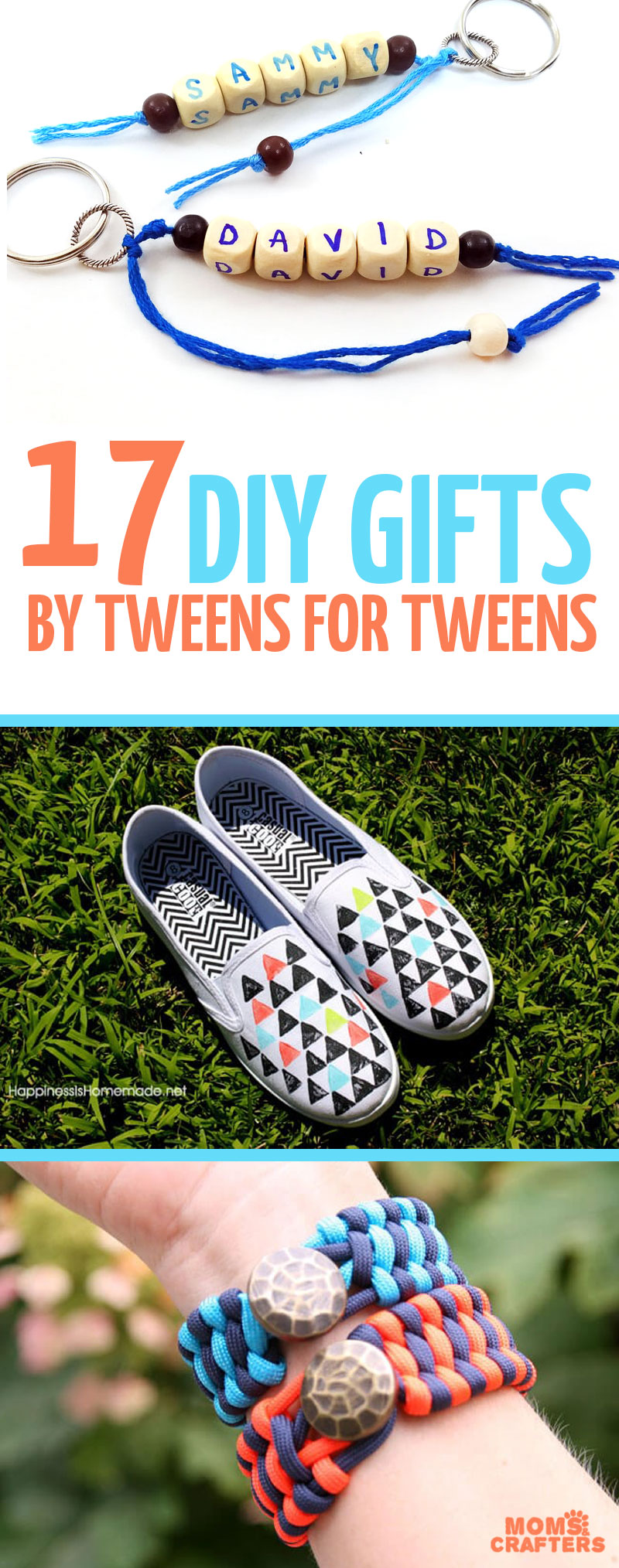 Click for 17 cool DIY gifts for tweens to make for other tweens!! These sweet DIY gift ideas for teens and tweens are easy to craft and perfect for Christmas and birthdays. #diygifts #teencrafts #teens