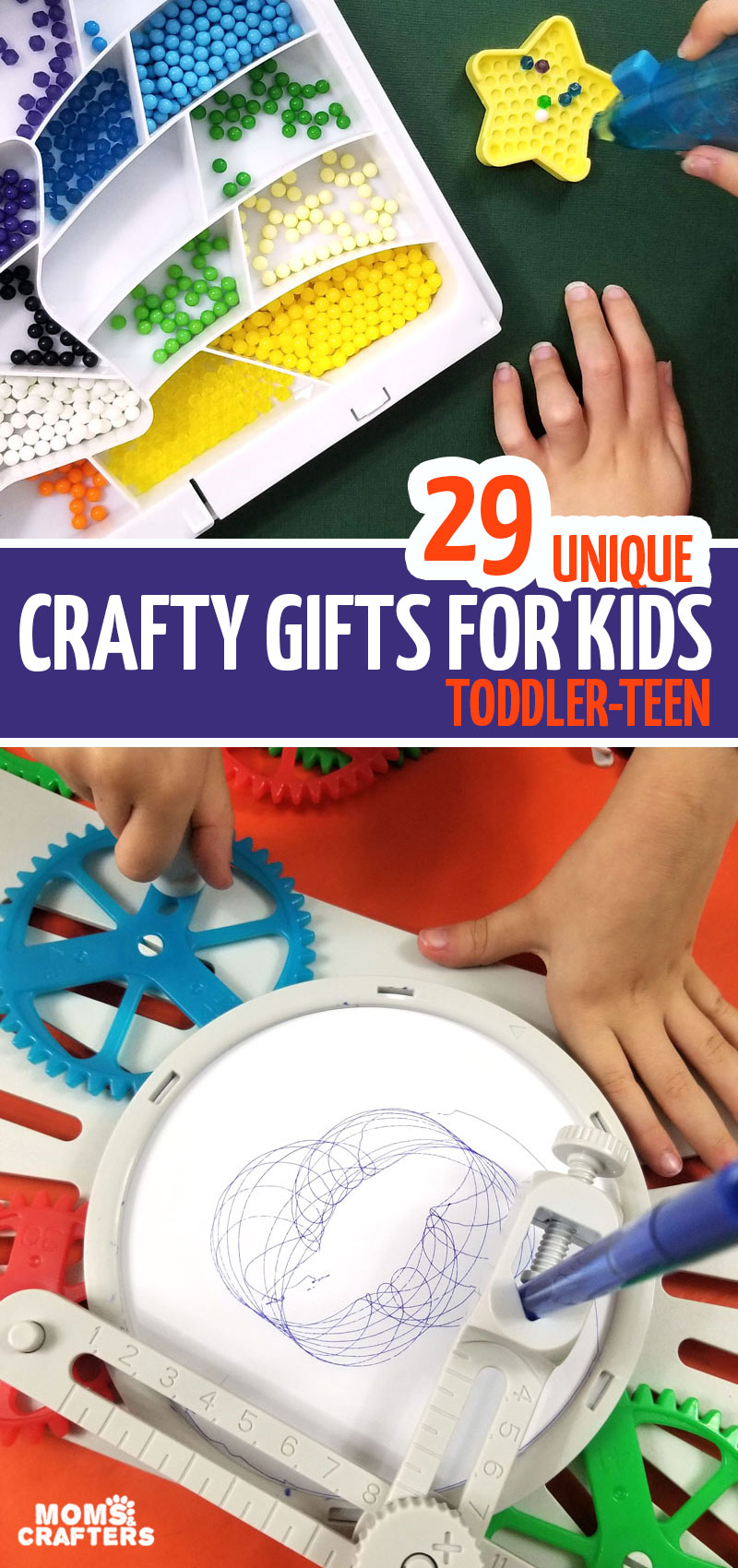 Click for an epic list of the best gifts for creative kids - including toddlers through teens!