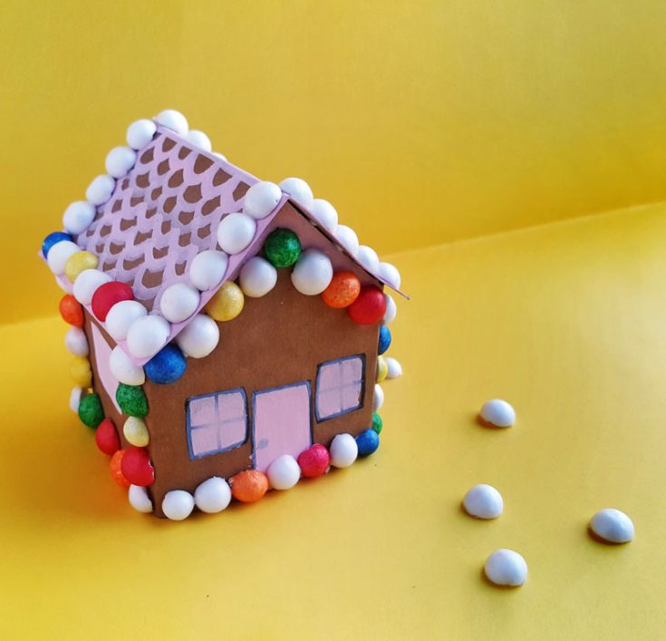 Gingerbread House Craft from Paper