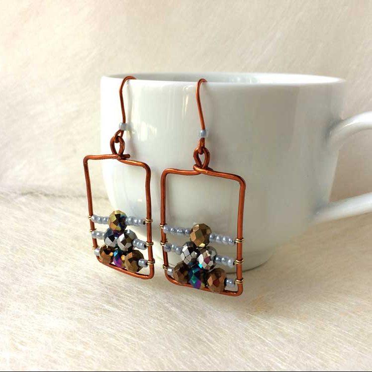 wire wrapped earrings tutorial 13 e1543470411356
