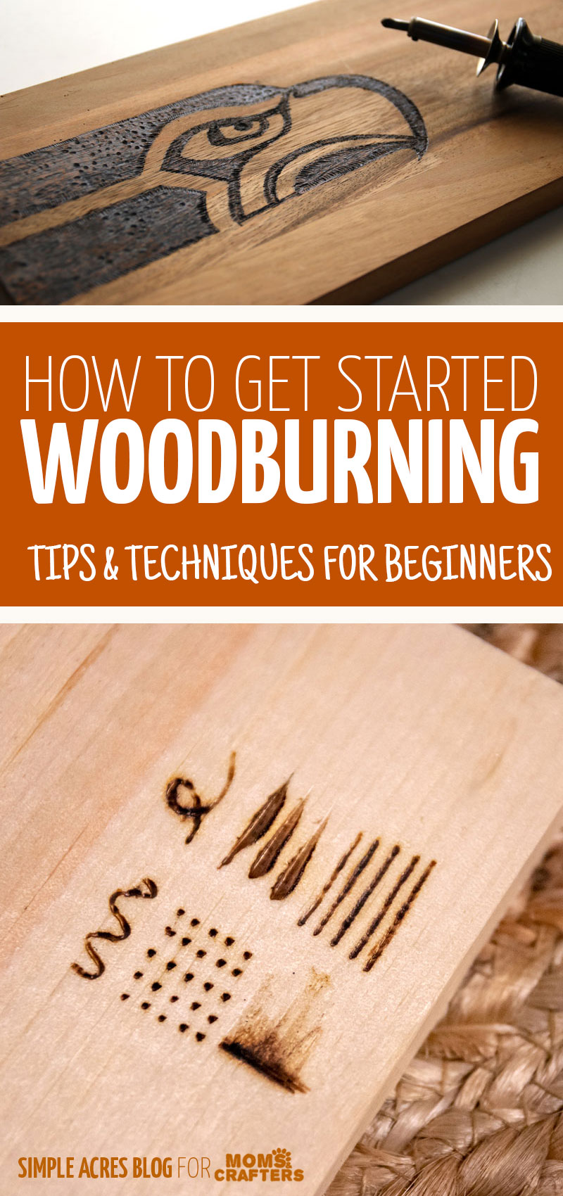 click for woodburning tips and techniques for beginners! Make your own wood burning signs and spoons, and more as DIY gifts! #woodburning #pyrography