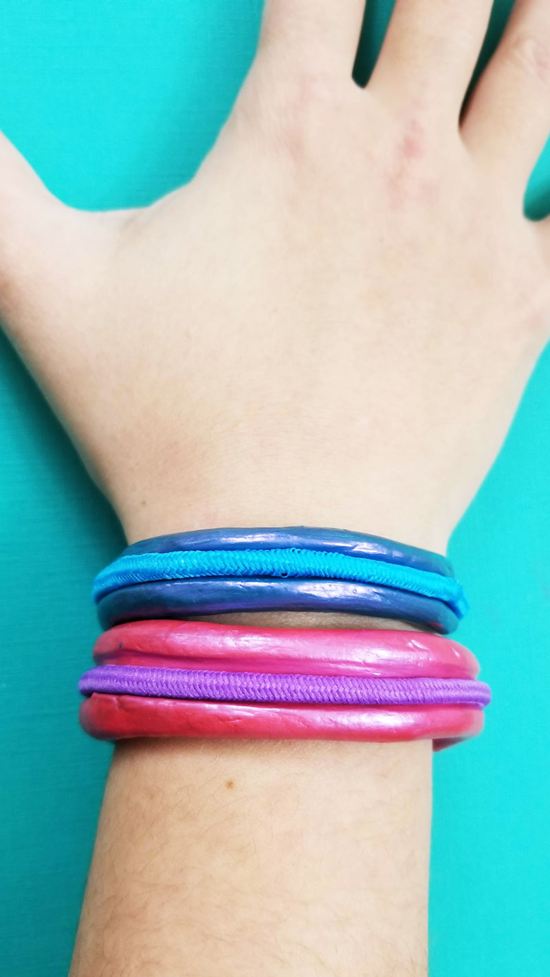 Adorable hair tie bracelets diy tutorial made from air dry clay
