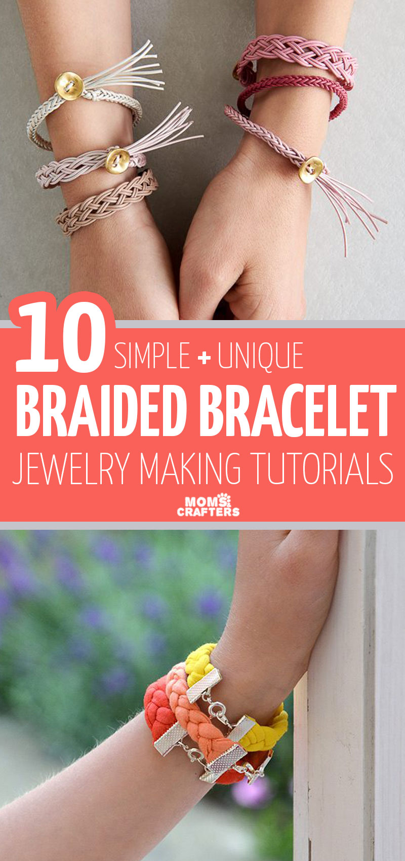 Click for ten simple and brilliant braid bracelet DIY ideas! These cool jewelry making tutorials are perfect for tweens and teens, and for boys and girls as well! They're great jewelry making projects for beginners too!