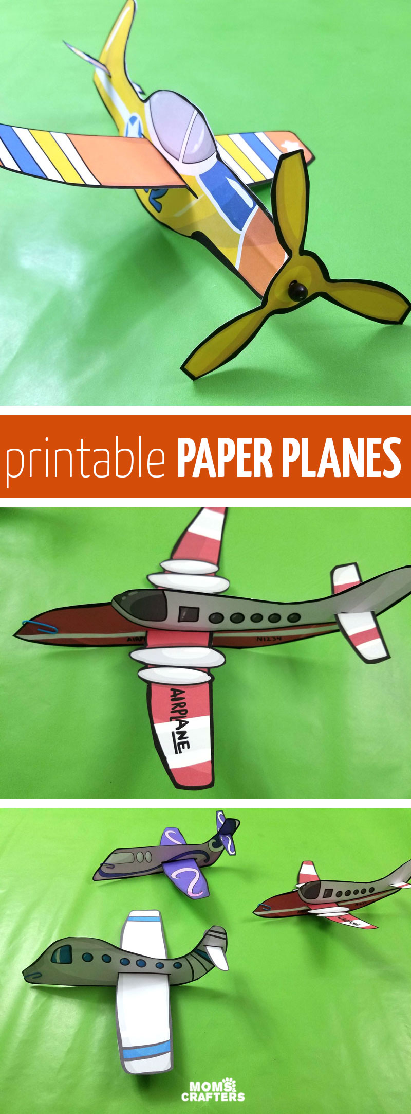 Click for cool templates to make paper planes! These easy paper airplane templates are perfect for travel activities for kids, for teaching about transportation or flight while homeschooling, or just for fun!