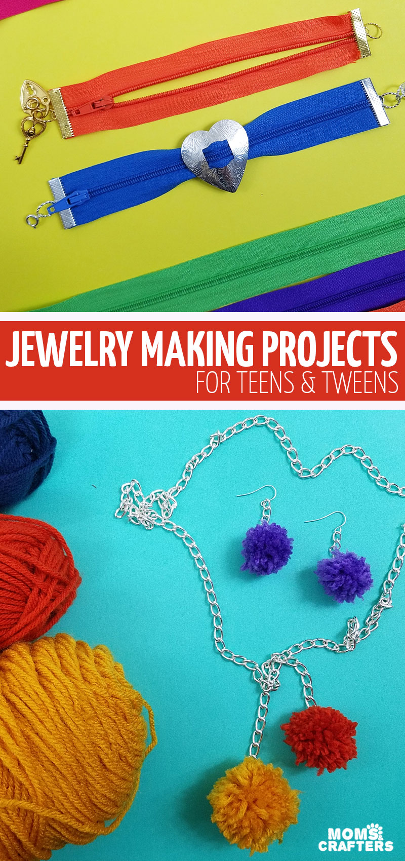 Click for over 36 jewelry making for teens ideas and projects! These cool tutorials come in one convenient ebook and makes great summer activities for teens, tweens, and big kids!