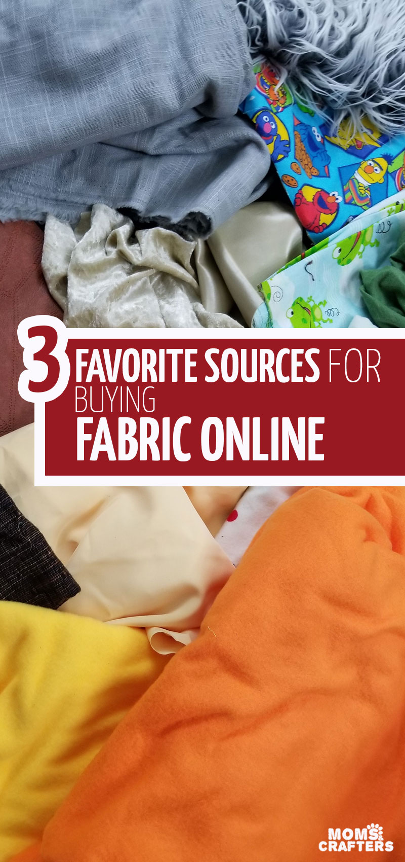 Click for a list of the best place to buy fabrics online for each need! This post includes sewing tips for beginners to help you source quality fabrics online. #sewing #diy #crafts