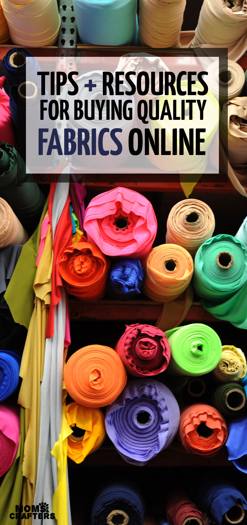 Looking to buy fabric online? This list includes tips for buying fabric online - things you should know before you do it, as well as the best place to buy fabrics online depending on which project you're working on - fashion, interior design, or even quilting #quilting #sewing #fabric